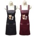 電繡兩隻貓兩口圍裙