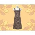 豹紋圍裙-兩口防水
