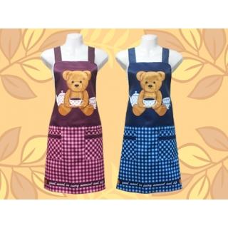 午茶熊圍裙-兩口