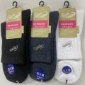 鱷魚144針刺繡1/2棉襪