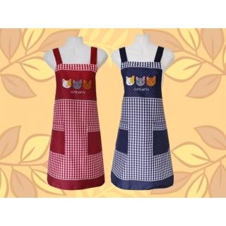 可愛貓圍裙(三隻)-兩口