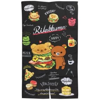 拉拉熊美式漢堡門簾