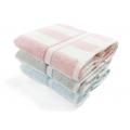 簡約條紋色紗浴巾