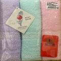 緞檔毛巾3入-混款