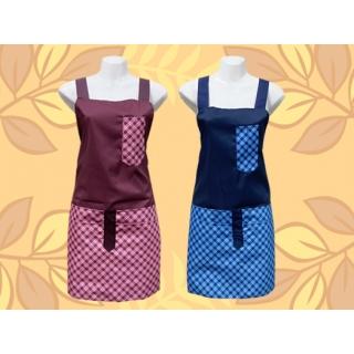 格子筆袋圍裙-四口